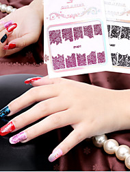5 Nagel-Kunst-Aufkleber Lace-Aufkleber Make-up kosmetische Nail Art Design