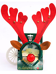 Christmas Ornaments Christmas Headband with Clown Nose