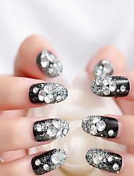 escrever falso unhas pretas remendo manicure terminou Beijiao parágrafo manicure noiva