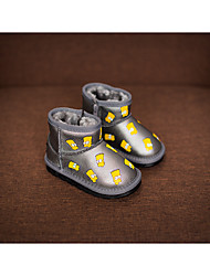 Girl's Boots Comfort Synthetic Casual Black / Gray