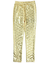 Gold/White/Pink/Wine Mermaid Tail Fish Scale Leggings Pencil Pants Causal Legging for 3-10 yrs Girls Kid