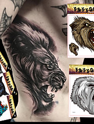 5 Tatouages Autocollants Séries animales / Séries de totem / Autres / Cartoon Series Non Toxic / Motif / Grande Taille / Waterproof / 3-D