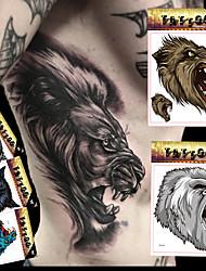 5 Tatuagens Adesivas Séries Animal / Séries Totem / Outros / Série dos desenhos animadosnão tóxica / Estampado / Tamanho Grande / Á Prova
