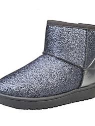 Women's Boots Winter Comfort PU Outdoor / Dress / Casual Flat Heel Others Black / Pink / Silver Walking