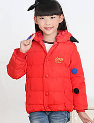 Girl's Casual/Daily Solid Suit & BlazerPolyester Winter Black / Blue / Red / Yellow