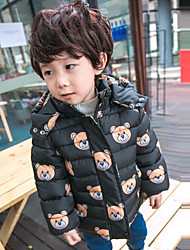 Boy's Casual/Daily Print Down & Cotton PaddedCotton Winter Black
