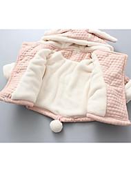 Mädchen Anzug & Blazer-Lässig/Alltäglich einfarbig Baumwolle Winter Rosa