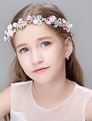 Damen Perle Strass Edelstahl Titan Kopfschmuck-Hochzeit Besondere Anlässe Freizeit Büro  & Karriere im Freien Tiara Stirnbänder Blumen1