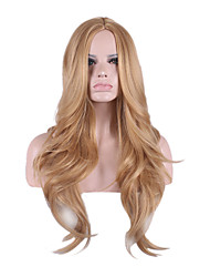 Fashion Wig Long Curly Blonde Wig Synthetic Heat Resistant Hair Young Women Costume Party Wigs