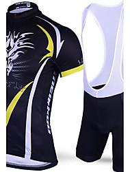 Esportivo Camisa com Bermuda Bretelle Homens Manga Curta MotoRespirável / Secagem Rápida / Design Anatômico / Resistente Raios