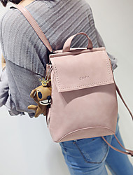 Casual Backpack Women PU Pink Blue Gray Black