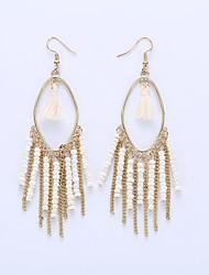 The European And American Fashion Eardrop Bohemian Personality Measle Tassel Earrings Long