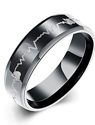 Men's Ring Love Fashion European Stainless Steel Jewelry For Party Daily Casual Christmas Gifts