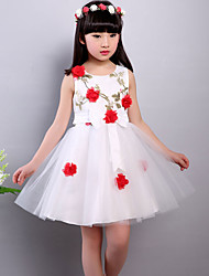 Girl's Casual/Daily Floral DressOthers Summer Purple / Red