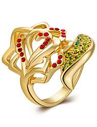 Anéis Sexy / Fashion / Caixas de presente e Bolsas / Estilo Casamento / Pesta / Diário Jóias Chapeado Dourado Feminino Anéis Statement