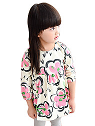 Girl's Cotton Spring/Fall Fashion Casual/Daily Sweet Floral Print Long Sleeve Princess Skirt