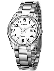 Men's Fashion Watch Water Resistant / Water Proof Quartz Stainless Steel Band Casual Silver