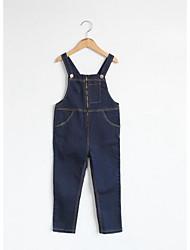 Mädchen Jeans-Lässig/Alltäglich einfarbig Baumwolle Winter / Herbst Schwarz / Blau