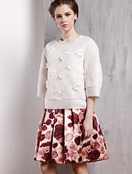 Damen Röcke - Anspruchsvoll Übers Knie Polyester Unelastisch