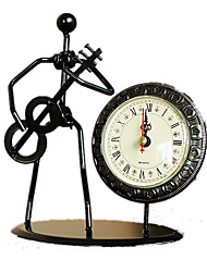 Music Ironman Clock Metal Wrought Iron Clock