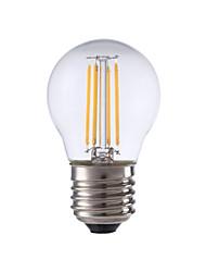4W E26/E27 Ampoules à Filament LED P45 4 COB 300 lm Blanc Chaud Décorative V 1 pièce