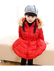 Girl's Casual/Daily Solid Suit & BlazerCotton Fall Black / Red