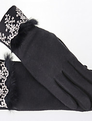 des gants en plein air chaud (noir)
