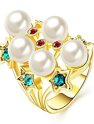 Anéis Caixas de presente e Bolsas / Estilo / Sexy / Fashion Halloween / Casamento / Pesta / Diário Jóias Chapeado Dourado FemininoAnéis