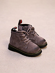 Boy's Boots Comfort Suede Casual Black / Brown / Gray