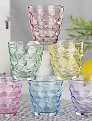 6PC Colorful Slap-Up Creative Roses Glass Red Wine Glassware Champagne Glass