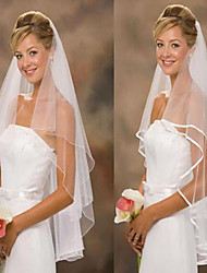 Wedding Veil Two-tier Fingertip Veils Tulle