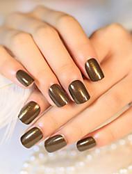 24pcs / набор для ногтей полосы короткий параграф тенденции шарик света цвета кофе моды