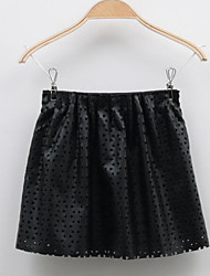 Girl's Casual/Daily Solid SkirtOthers Fall Black
