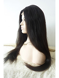 Sylvia Glueless Synthetic Lace front Wig Natural Black Heat Resistant Long Straight Synthetic Wigs