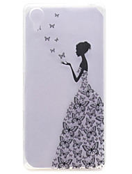 Pour sony xperia x transparent pattern case back cover case sexy lady doux tpu sony xperia x