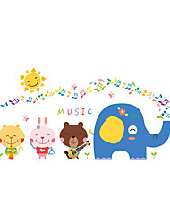 Animals / Music / Fashion Wall Stickers Plane Wall Stickers Decorative Wall Stickers / Wedding Stickers,PVC MaterialWashable / Removable