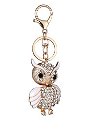 Europe And The United States New Realistic Key Chain Owl Key Chain Bag Car Key Pendant Valentine's Day Gift Factory Direct Sales