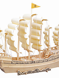 Ancient Wooden Ship Simulation Three-dimensional Puzzle DIY Educational Toys