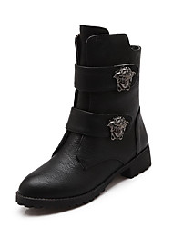 Women's Boots Fall / Winter Comfort PU Office & Career / Dress / Casual Low Heel Others / Magic Tape / Slip-on Black / Brown / Red Others