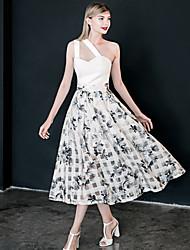 Damen Röcke - Retro Knielang Polyester Unelastisch