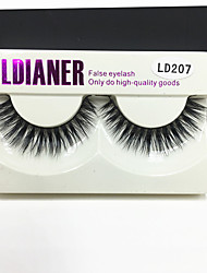 Full Strip Lashes Eyes Thick Handmade mink hair eyelash Black Band 0.10mm 12mm LD207