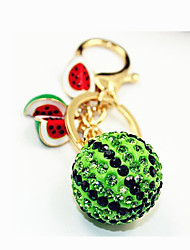 Full Diamond Fruit Watermelon Car Key Buckle