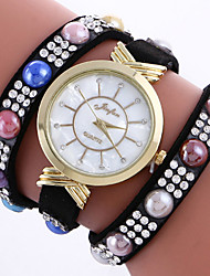 New Fashion Luxury Multicolor Rhinestone Leather Bracelet Women Quartz Wristwatch Relogio Feminino Gift