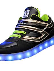 Boy's Sneakers Spring / Fall Comfort Fabric Casual Flat Heel Magic Tape Black / Red Sneaker