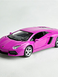 Action Figure / Play Vehicles Model & Building Toy Car Metal Pink / Yellow / Purple For Boys / For Girl Above 3