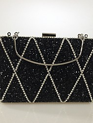 Women PU Formal/Event/Party Office Career Evening Bag  Butterfly Crystal Clutch Bags  Wedding Acrylic Resin Drill