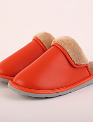 M.livelihood.H Women's Slippers & Flip-Flops Winter Slingback Cowhide Casual Flat Heel Others Orange Others-LB2016023