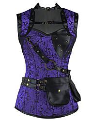Corset Vêtement de nuit Femme,Rétro Jacquard-Moyen Rayonne / Spandex Violet Aux femmes