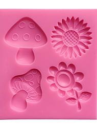 Daiy Flower Mushroom Cake Decoration Mold  SM-461