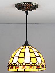 25W Lámparas Colgantes ,  Tiffany / Cosecha Pintura Característica for Mini Estilo Vidrio Sala de estar / Vestíbulo